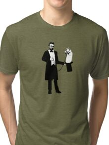 Lincoln's Llama Trick Tri-blend T-Shirt