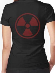 Radioactive Symbol Women's Fitted V-Neck T-Shirt
