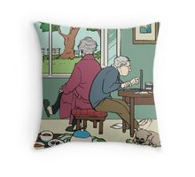 Retirement of Sherlock and John Throw Pillow