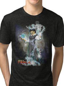 BDZ Tesla Milky Way Tri-blend T-Shirt