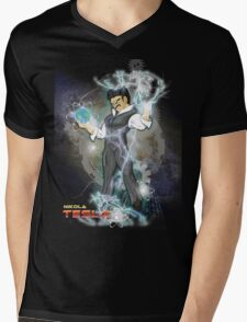 BDZ Tesla Milky Way Mens V-Neck T-Shirt