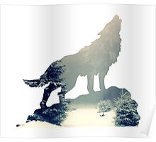 Wolf in the Forest Poster