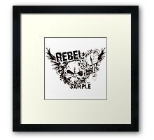 rebel sample text Framed Print