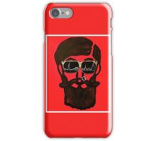 The Bearded Man (Red) iPhone Case/Skin