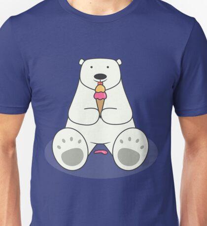 Ice Cream Lover Polar Bear Unisex T-Shirt