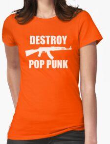Destroy Pop Punk (Black) Womens Fitted T-Shirt