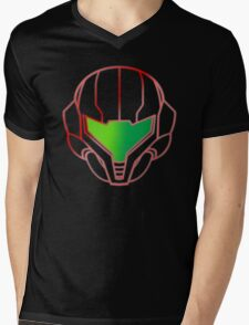 Samus Helmet Mens V-Neck T-Shirt