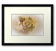 Roses And Butterfly Posy  Framed Print