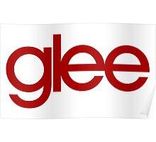 Glee Logo Red Poster
