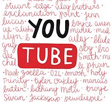 Youtubers collage by wowords-ig