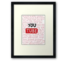 Youtubers collage Framed Print