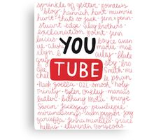 Youtubers collage Canvas Print