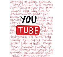 Youtubers collage Photographic Print