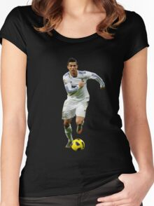 cristiano ronaldo fight Women's Fitted Scoop T-Shirt