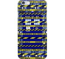Yellow Line Tardis iPhone Case/Skin