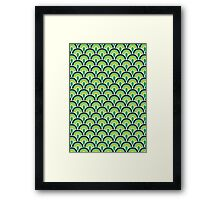 Fabric Texture Retro Style Framed Print