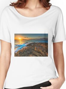 Sunrise and rocky shore Women's Relaxed Fit T-Shirt