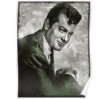 Tony Curtis Vintage Hollywood Actor Poster
