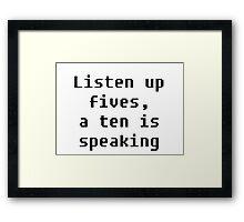 Listen Up Framed Print