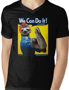 We Can Do It (...Eventually) Sloth Mens V-Neck T-Shirt
