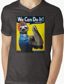 We Can Do It (...Eventually) Sloth Mens V-Neck T-Shirt