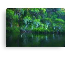Pittwater Reflections  - Church Point - The HDR Experience Canvas Print