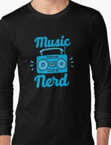 Music Nerd (with awesome 80s cassette speaker sound system) Long Sleeve T-Shirt