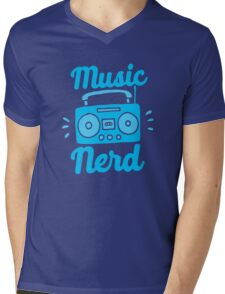 Music Nerd (with awesome 80s cassette speaker sound system) Mens V-Neck T-Shirt