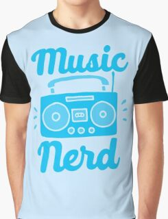 Music Nerd (with awesome 80s cassette speaker sound system) Graphic T-Shirt