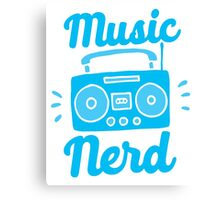Music Nerd (with awesome 80s cassette speaker sound system) Canvas Print