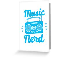 Music Nerd (with awesome 80s cassette speaker sound system) Greeting Card