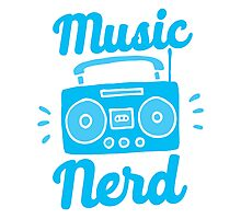 Music Nerd (with awesome 80s cassette speaker sound system) Photographic Print