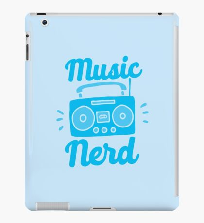 Music Nerd (with awesome 80s cassette speaker sound system) iPad Case/Skin