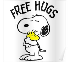 Free Hugs,Snoopy Poster