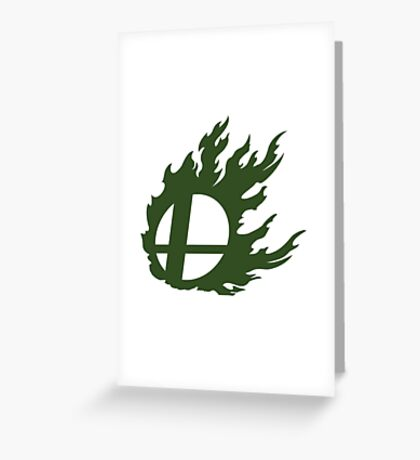 Green Smash Ball Greeting Card