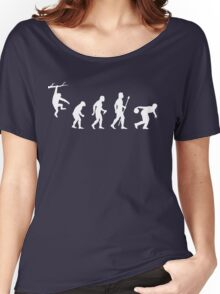Funny Evolution Of Man And Ten Pin Bowling Women's Relaxed Fit T-Shirt