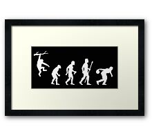 Funny Evolution Of Man And Ten Pin Bowling Framed Print