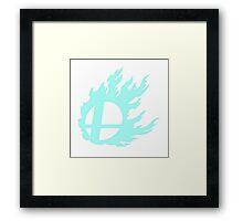 Blue Smash Ball Framed Print