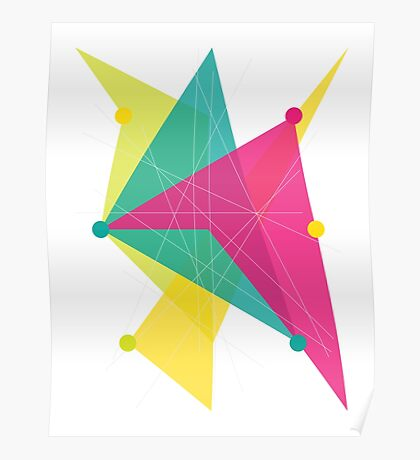 Abstract Polygon Poster