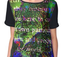 All the Creatures by SpiritualArty Chiffon Top