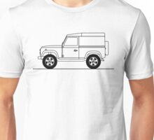 Line drawing of Land Rover Defender 90 Unisex T-Shirt