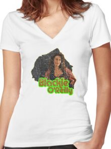Blackie O'Reilly Women's Fitted V-Neck T-Shirt