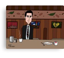 Agent Dale Cooper deduces at the RR Diner Canvas Print