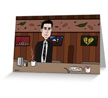 Agent Dale Cooper deduces at the RR Diner Greeting Card