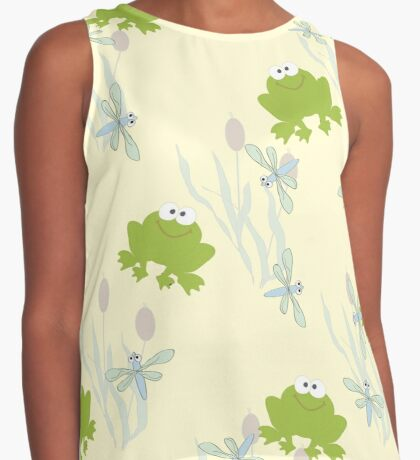 Childrens background with leaguetime Contrast Tank