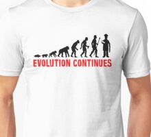 Funny Baking Evolution Of Man Continues Baker Shirt Unisex T-Shirt