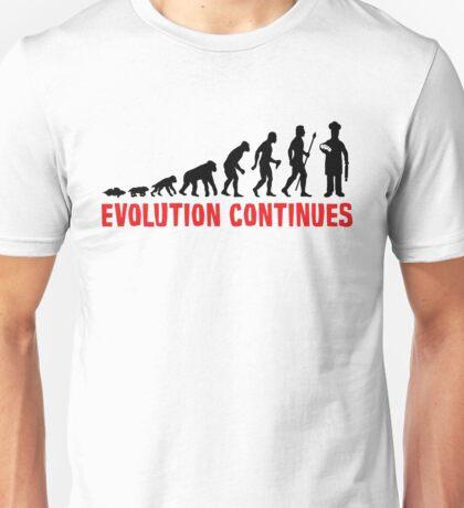 Funny Baking Evolution Of Man Continues Baker Shirt Unisex T-Shirt