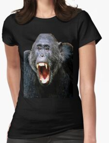 angry monkey Womens Fitted T-Shirt