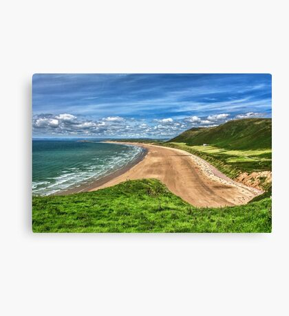 Rhossili Bay On The Gower Peninsula Canvas Print