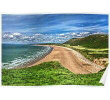 Rhossili Bay On The Gower Peninsula Poster